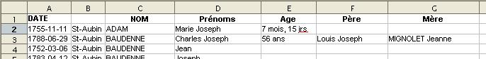 Exemple de fichier à charger